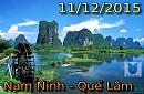 Tour Du Lịch Trung Quốc : Nam Ninh - Quế Lâm khởi hành ngày 11 tháng 12 năm 2016