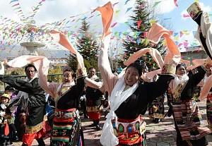 Độc đáo lễ hội sữa chua Shoton Tây Tạng