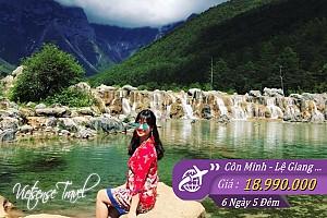 Côn Minh - Lệ Giang - ShangriLa: Đắm Chìm Sắc Thu - Bay 2 Chặng + 2 Chặng Tàu
