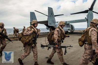 Mỹ điều động 30.000 quân ra Biển Đông đối phó Trung Quốc