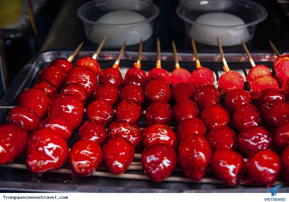 Xiên kẹo hồ lô ngọt ngào tại thành phố Bắc Kinh tấp nập,xien keo ho lo ngot ngao tai thanh pho bac kinh tap nap